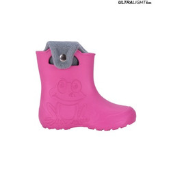 Ultralight Children's Rubber Rain Boots, Pink | FROGGY-PK