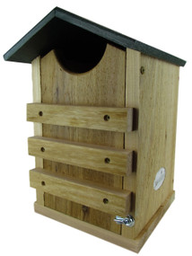 JC's Wildlife Screech or Saw-Whet Owl House Cedar Nesting Box w/ Poly Roof