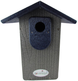 JCs Wildlife Gray Recycled Poly Lumber Ultimate Bluebird House