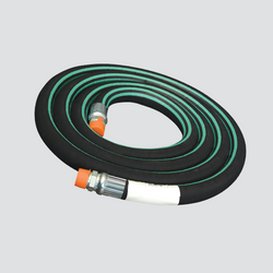 "Apache 1"" x 7' Nylon Braid Reinforced Anhydrous Ammonia (NH3) Hose Assembly 
