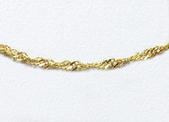 14K Yellow  Gold Sparkle Singapore Chain 18 inch (0.7mm)  - 29200