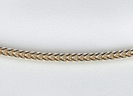 14k yellow gold  foxtail chain 1.5mm 18 inch - 29203