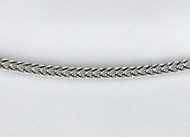 14k White Gold Foxtail chain 1.5mm 18 inch long - 29204