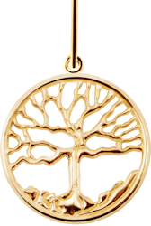 Family Tree Pendant - 14K Yellow Gold - Large