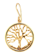 Family Tree Pendant - 14K Yellow Gold - Small