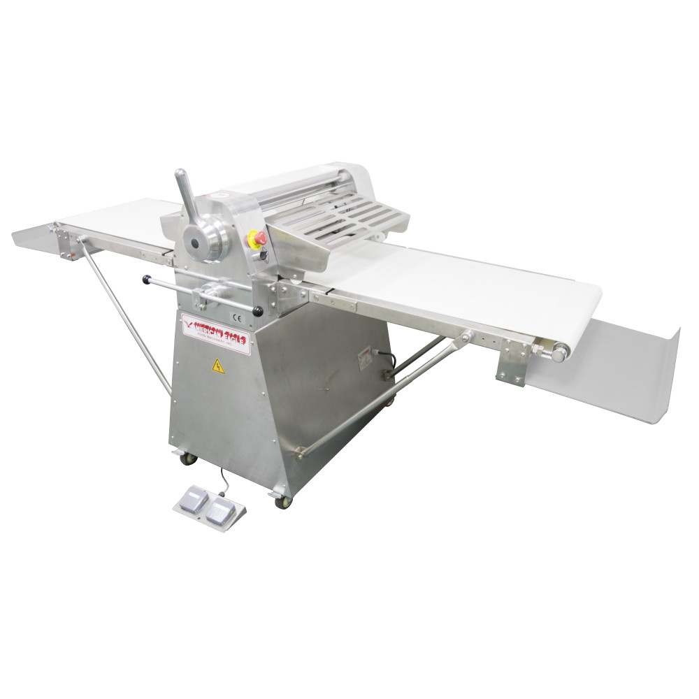 "American Eagle Food Machinery Stainless Steel Commercial Dough Sheeter, Floor Type 25.5""W x 98.5""L, 220V/1Ph/1HP, AE-DS65-SS"
