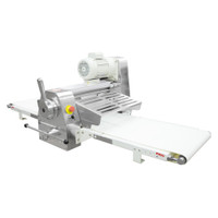 """American Eagle Food Machinery Commercial Dough Sheeter, Bench Type 17.75""""W x 71""""L, 220V/1Ph/1/2HP, AE-DS45B - Side"""