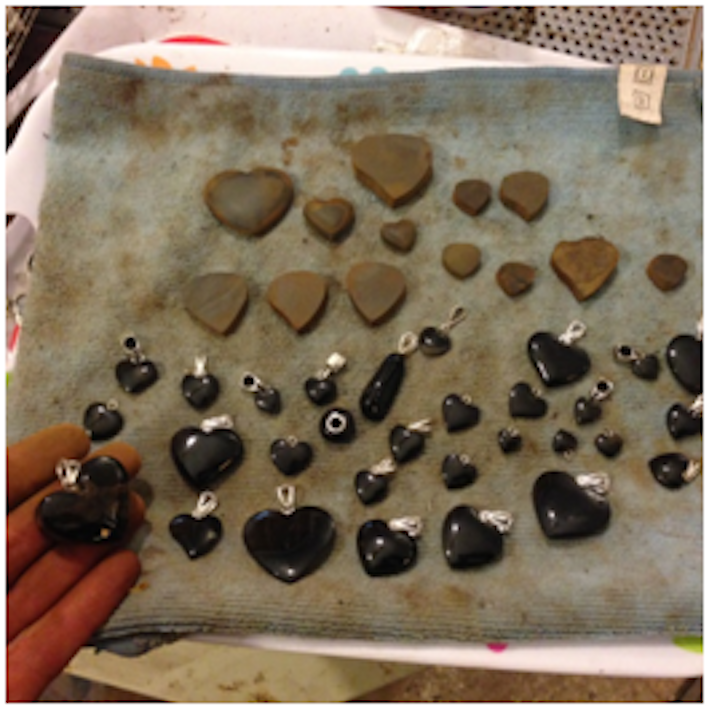Whitby Jet hearts