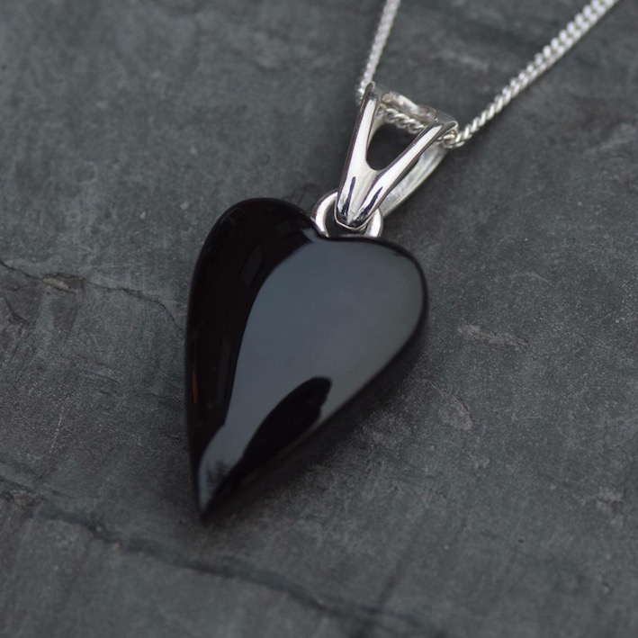 Whitby Jet Heart