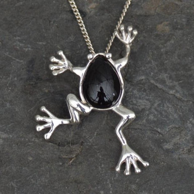 Whitby jet frog pendant whitby jet whitby jet frog pendant finest whitby jet and 925 silver mozeypictures Image collections