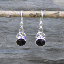 Celtic Whitby Jet Earrings 458E