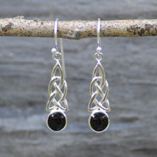 Celtic Whitby Jet drop earrings