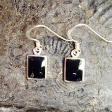 Whitby Jet Oblong Earrings 227E