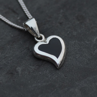 Whitby jet heart pendant whitby jet jewellery jet pendants whitby jet heart pendant aloadofball Images