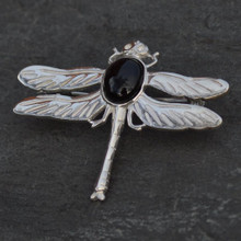 Whitby Jet Dragonfly brooch