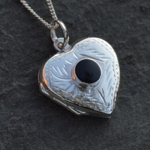Whitby Jet Heart Locket