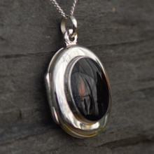 Oval Whitby Jet Locket