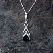 Small Whitby jet pendant