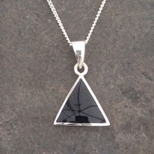 Whitby jet triangle pendant