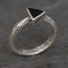 Whitby Jet Triangle Ring 004JR