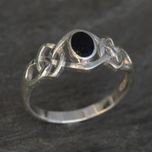 celtic whitby jet ring