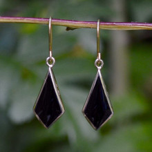 Gold Whitby Jet Earrings