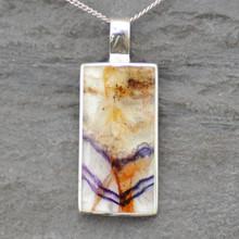 Large Blue john ingot pendant