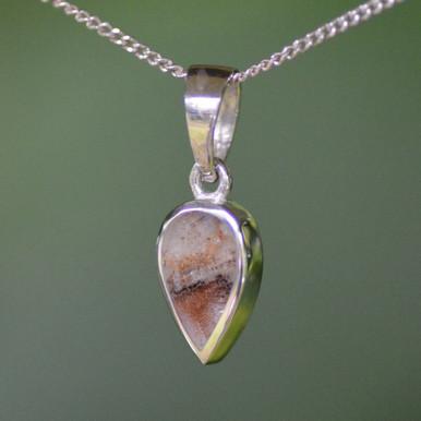 Derbyshire blue John silver pendant