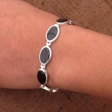 Whitby Jet oval Bracelet