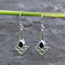 Celtic Whitby jet earrings