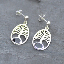 Tree of life Whitby jet earrings