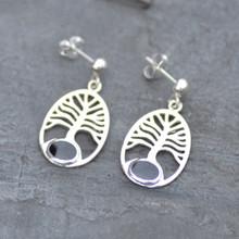 Tree of life Whitby jet earrings