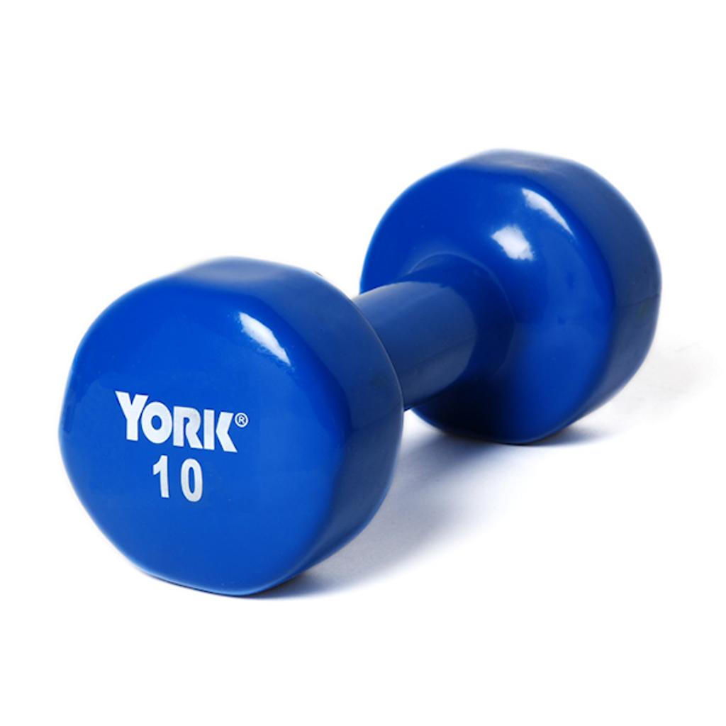 York 10 lb. Vinyl Coated Dumbbell