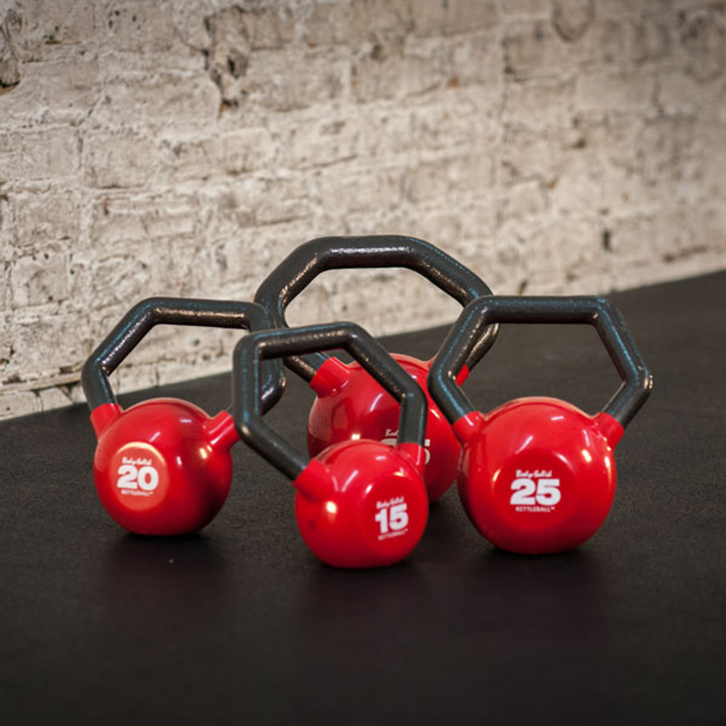 Body Solid Vinyl Covered Kettlebell Set