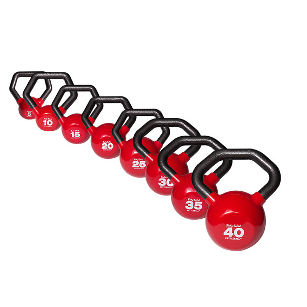 Body Solid Vinyl Coated Kettleball Set