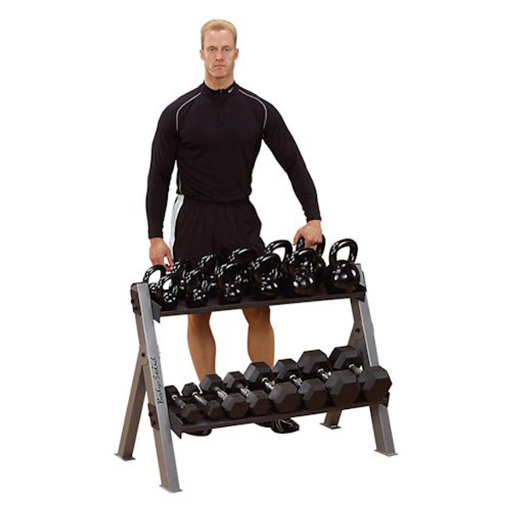 Body Solid Combo Dumbbell/Kettlebell Rack