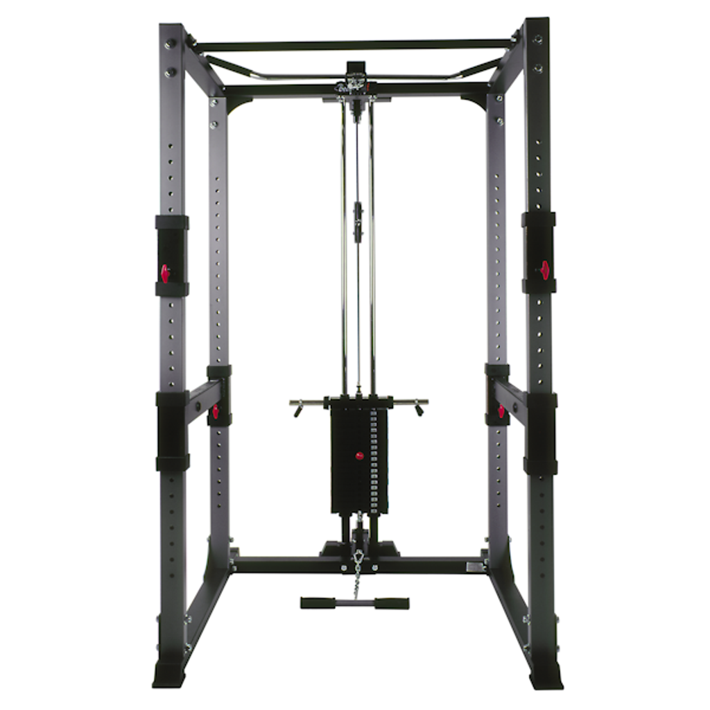 BodyCraft Workout Power Rack with Optional Lat Pulldown and Weight Stack