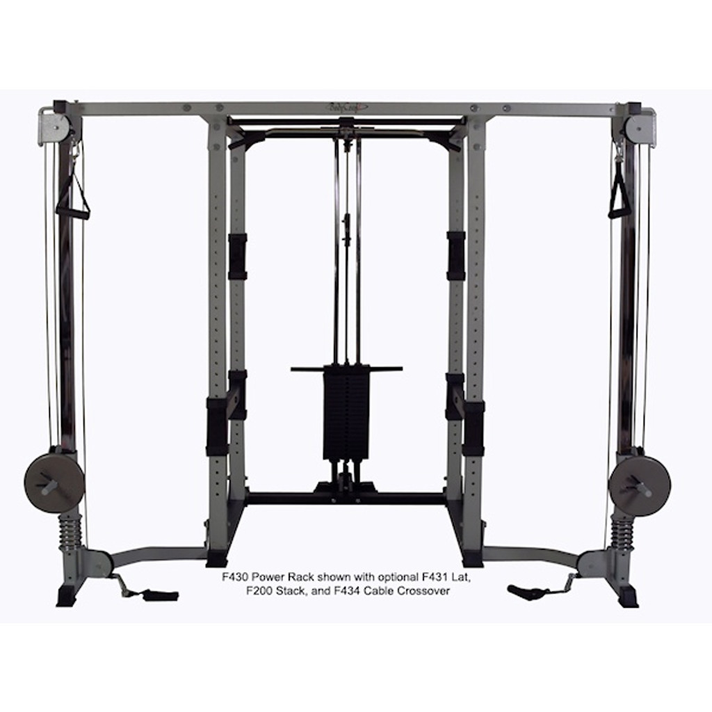 BodyCraft Light Commercial Power Rack Cable Crossover Option