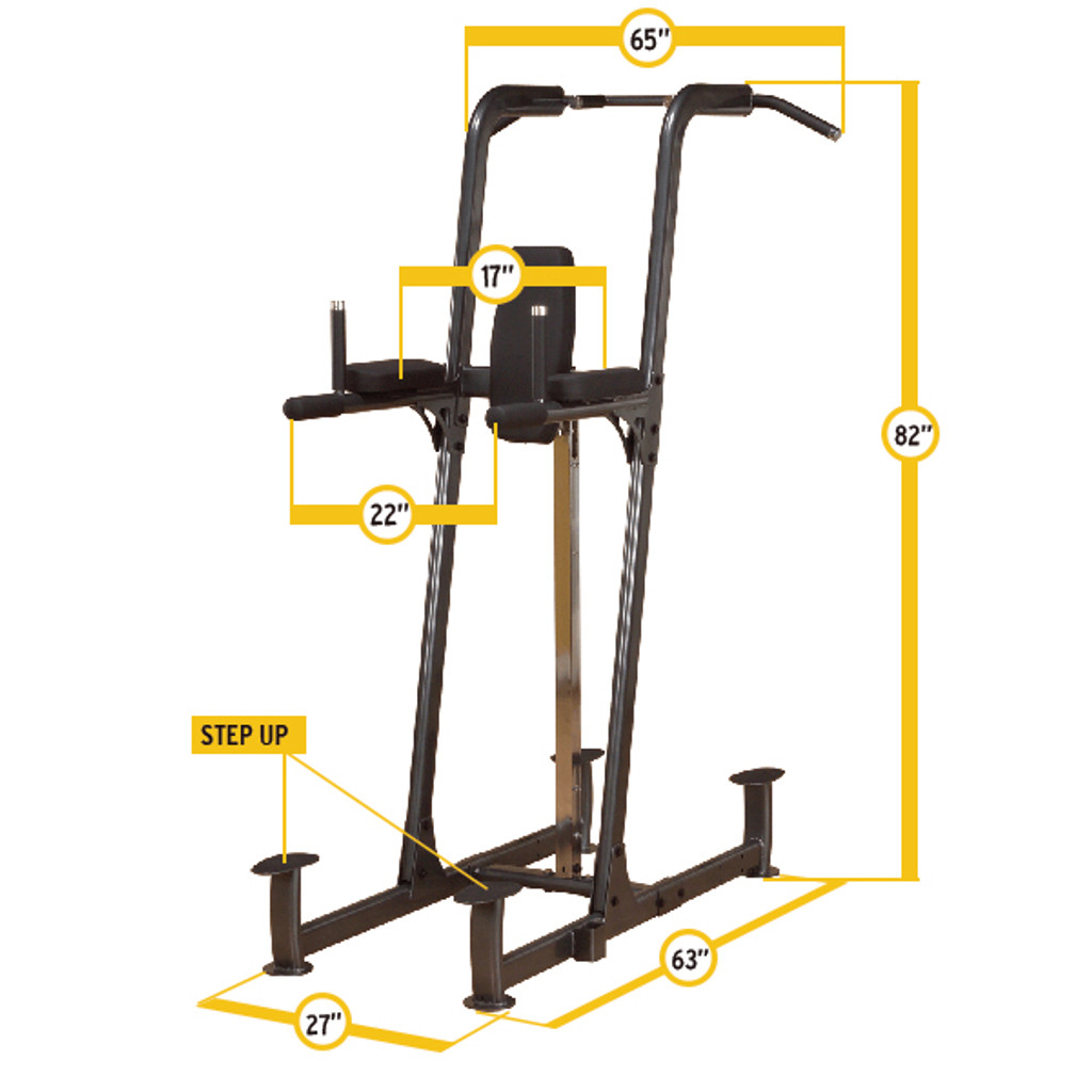 Body Solid VKR Dip Station Dimensions