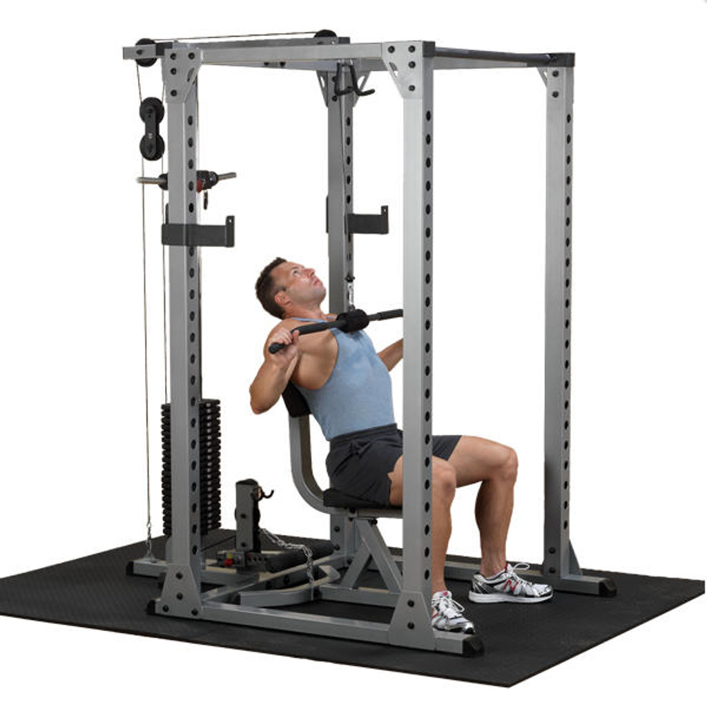 Body Solid Power Rack with Lat Pull