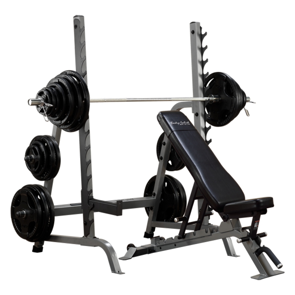 Body Solid Home Fitness Rack w/ Bench Combo
