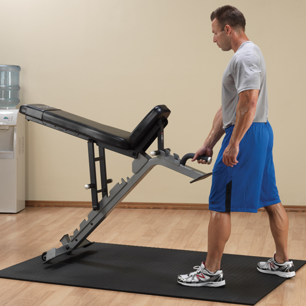 Body Solid Adjustable Bench with Wheels