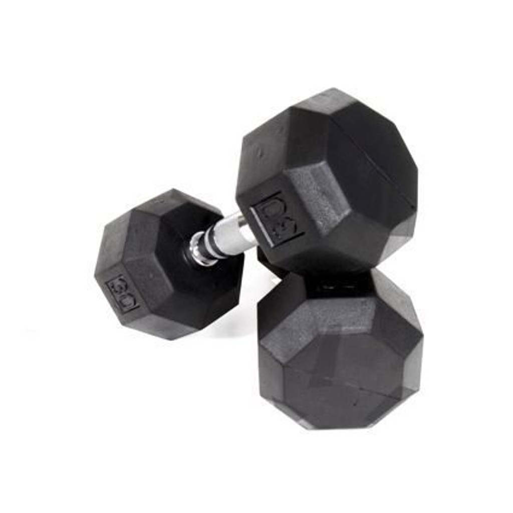 Troy VTX (SD-R) 8-Sided Rubber Coated Dumbbells
