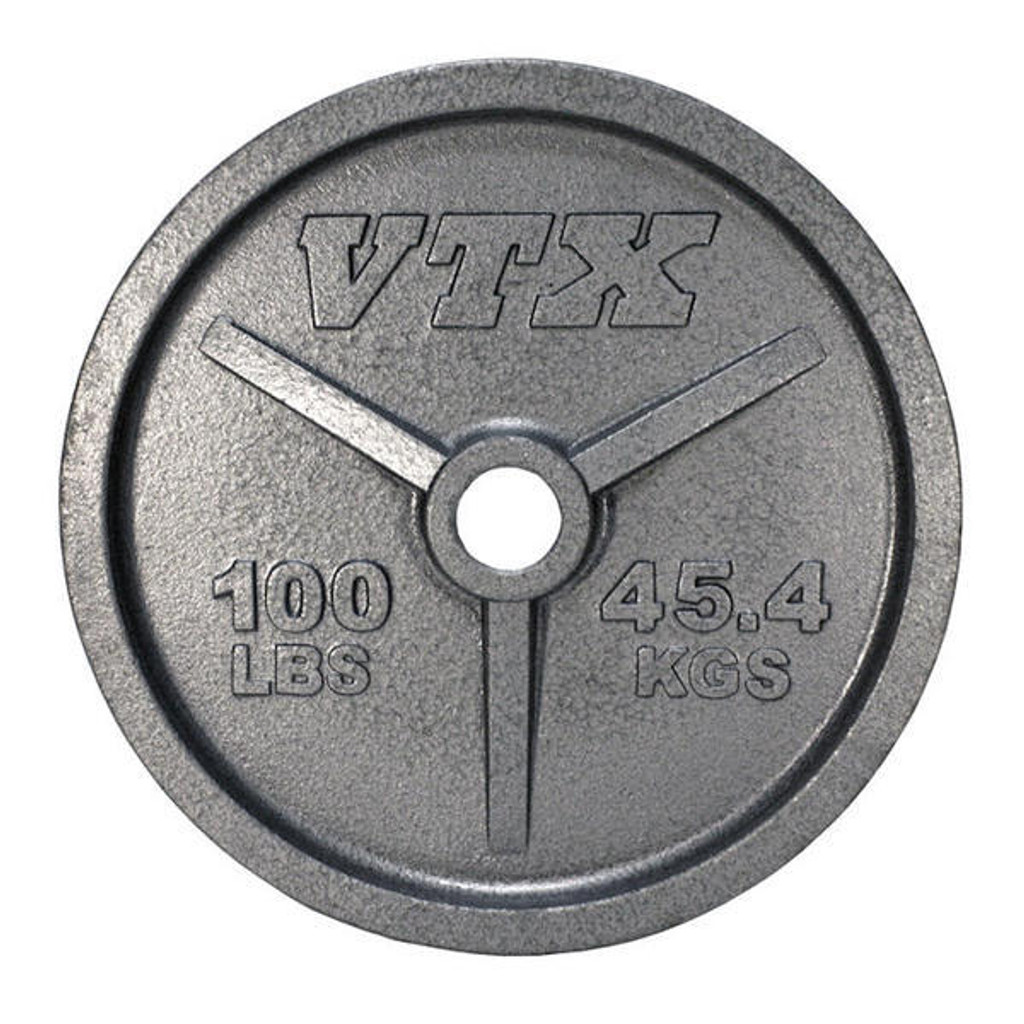 Troy VTX 100 lb. Cast Iron Olympic Plate