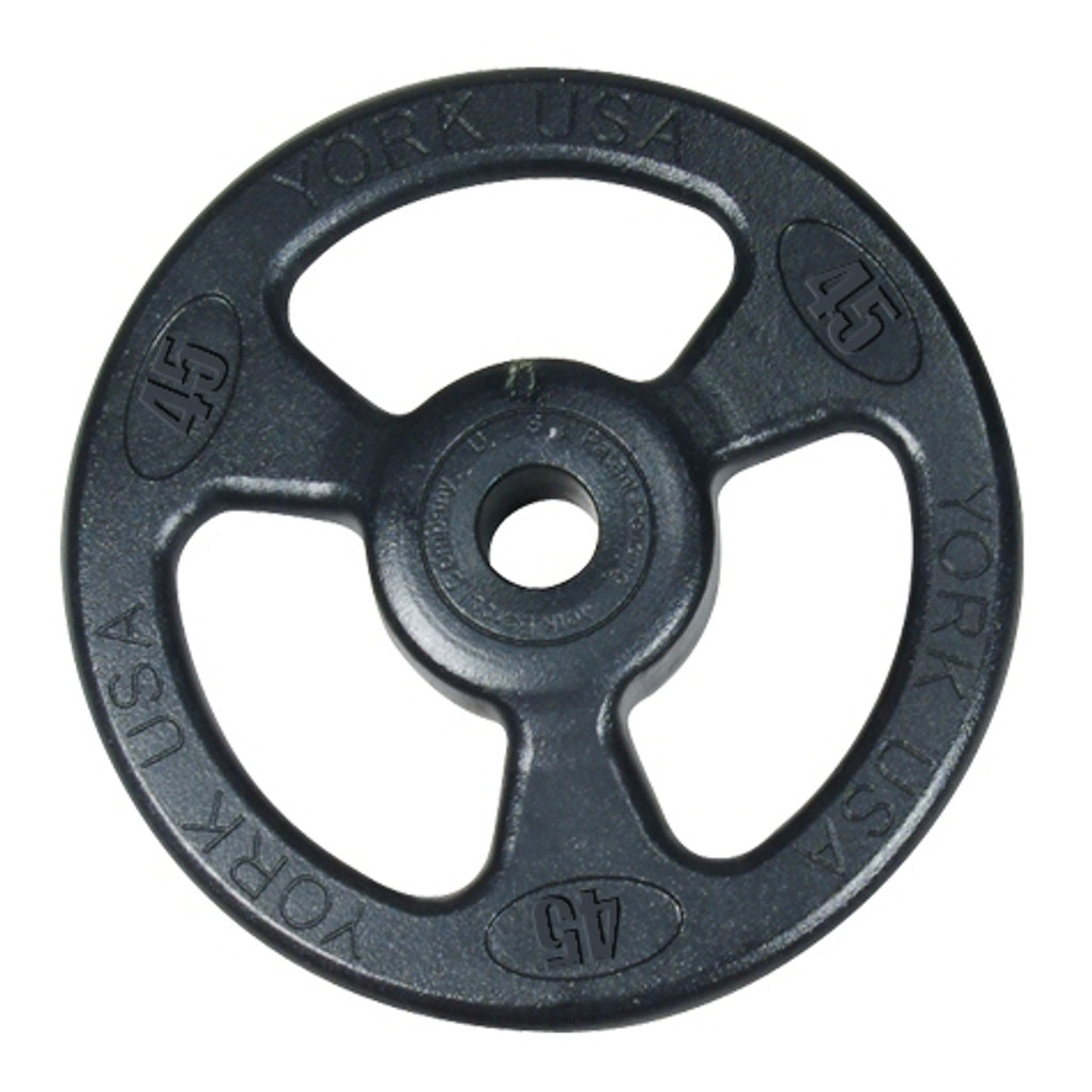 York (ISO-GRIP) Steel Olympic Weight Plate