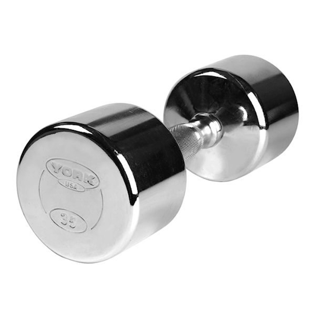 York Chrome Dumbbell Weights