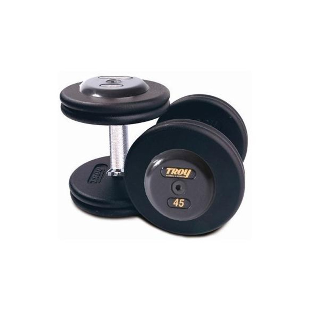 Troy Commercial Pro Style Dumbbell Set with Black End Caps