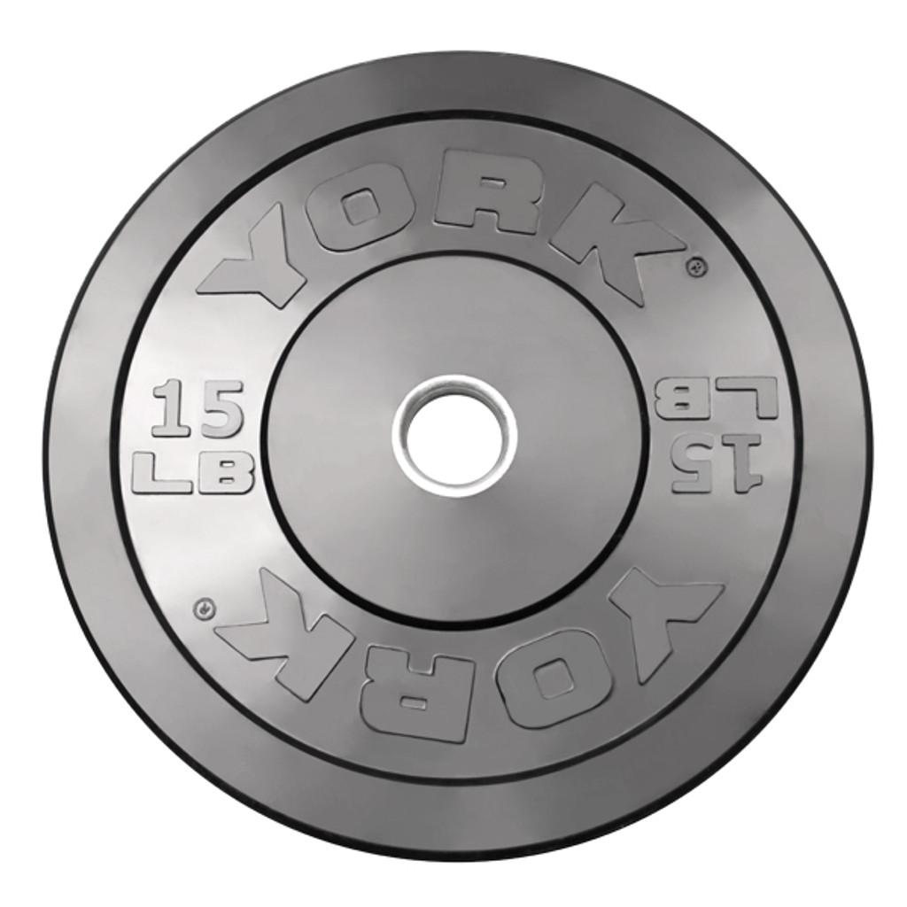 15 lb. - Bumper Weight Plate - York