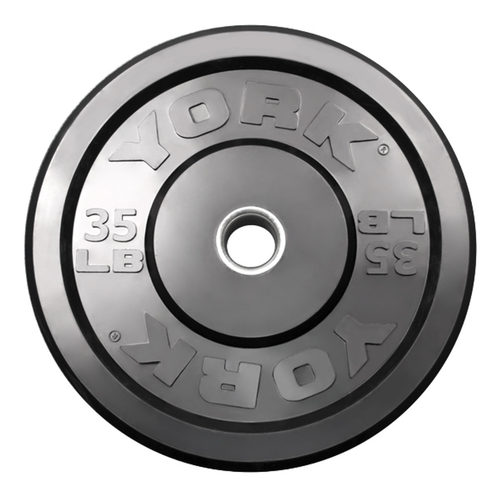 35 lb. - Solid Rubber Bumper Plate - York Barbell