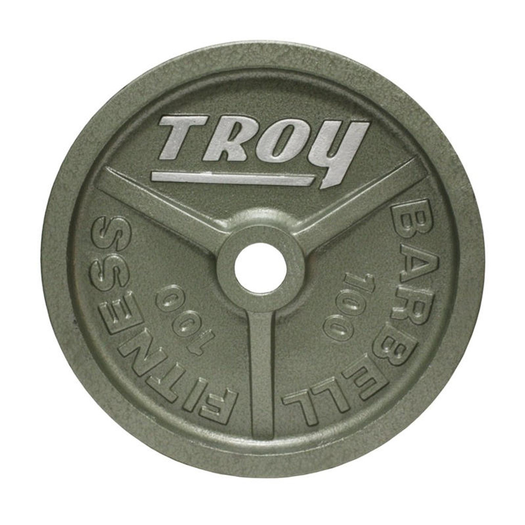 Troy 100 lb. Commercial Olympic Plate